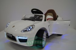 Электромобиль RiverToys Porsche Panamera A444AA-WHITE-LEATHER
