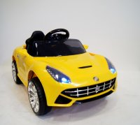 Электромобиль RiverToys Ferrari O222OO-YELLOW-LEATHER