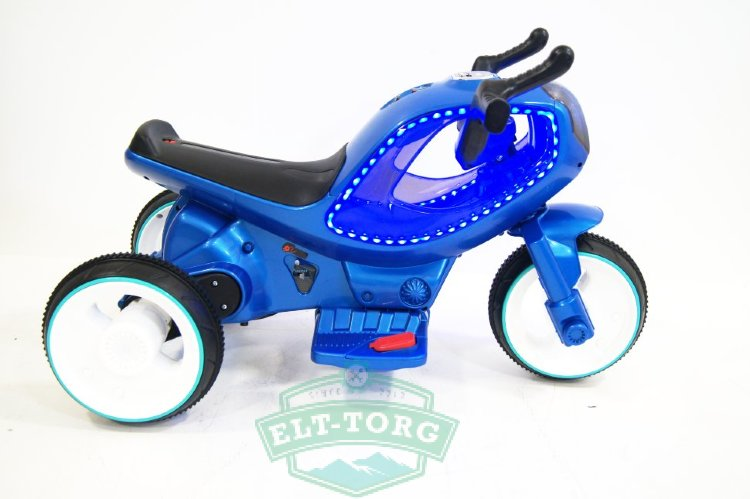 Электромобиль RiverToys MOTO HC-1388-BLUE