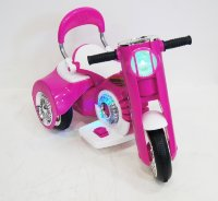 Электромобиль RiverToys MOTO X222XX-WHITE-PINK